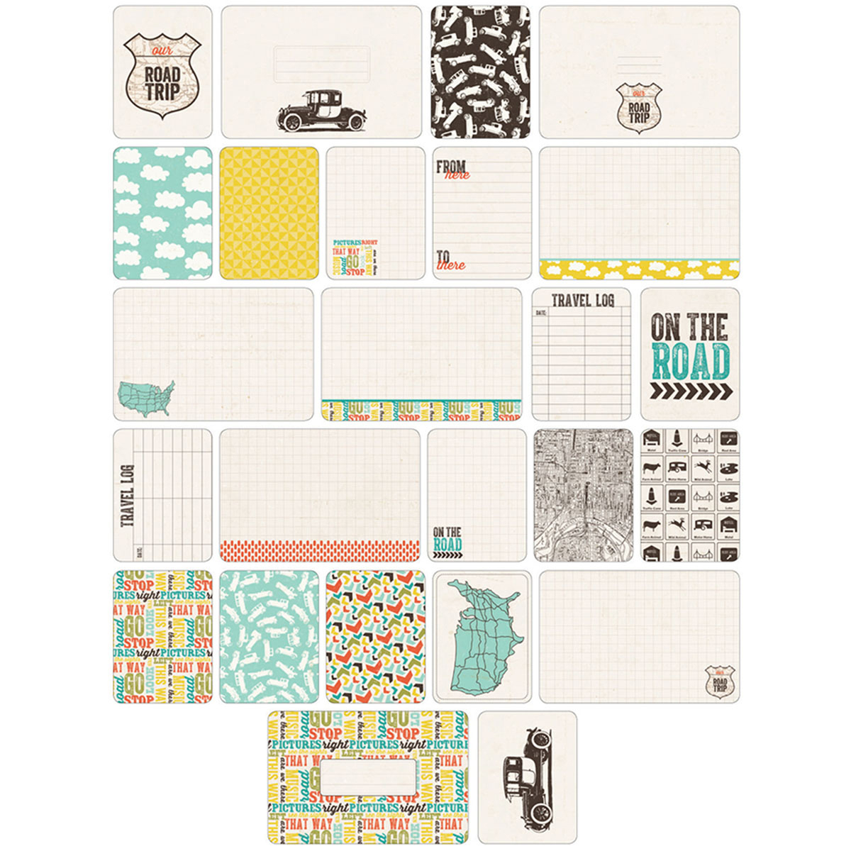 Project Life Themed Cards 60/Pkg-Road