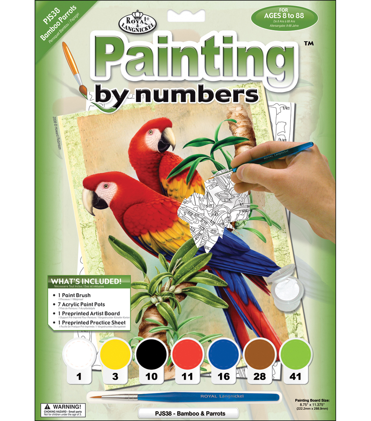 Royal Langnickel Junior Paint By Number Kit Bamboo & Parrots