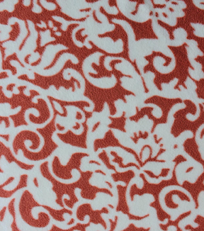 Anti-Pill Fleece Fabric 59\u0022-Spice Floral Vines
