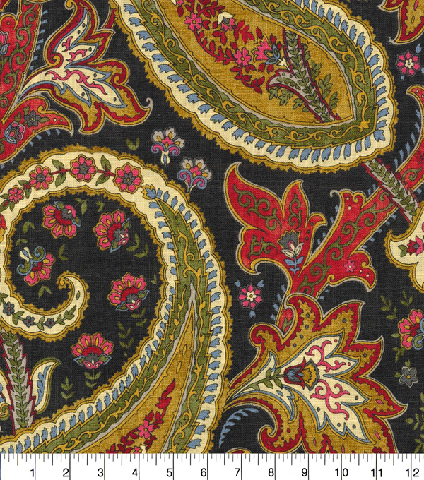 Williamsburg Upholstery Fabric 54''-Spice Plumtree Paisley