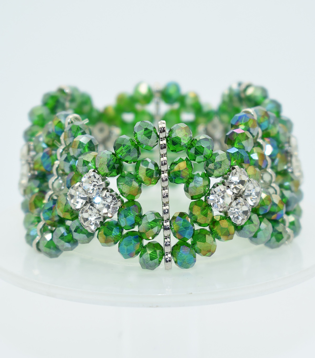 Crystal Diamond Style Bracelet-Green Shine