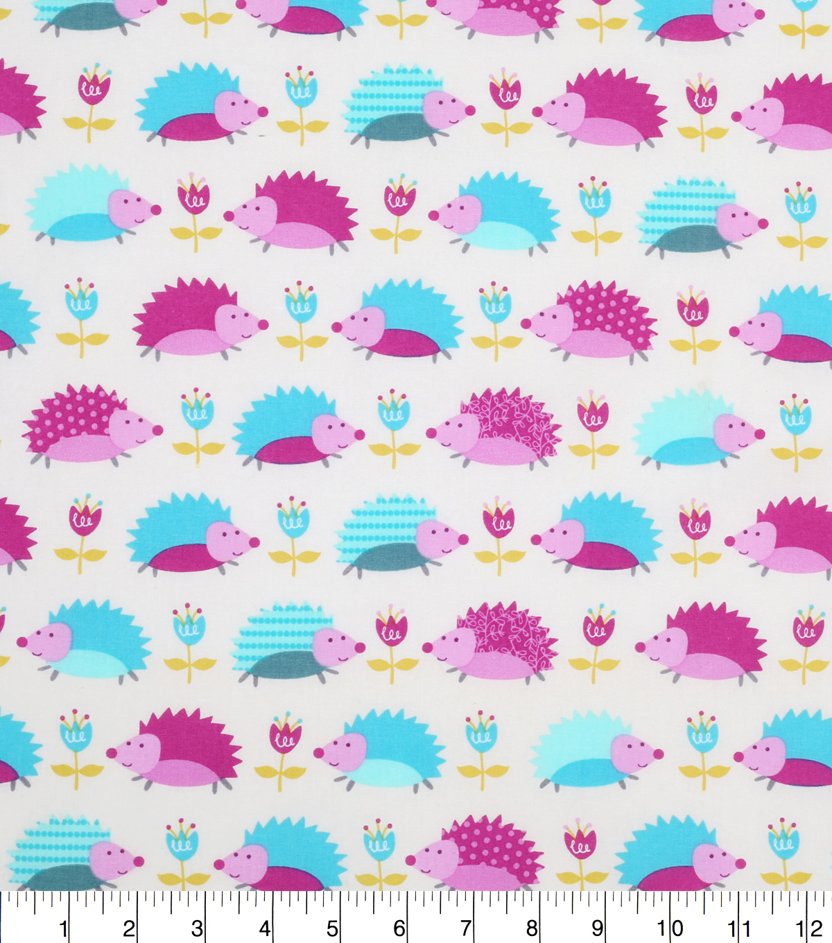 "Novelty Cotton Fabric 43""-Hedgehogs"