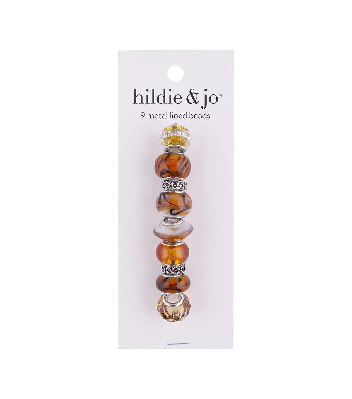 hildie & jo™ Mix & Mingle Metal Lined Glass Beads-Brown
