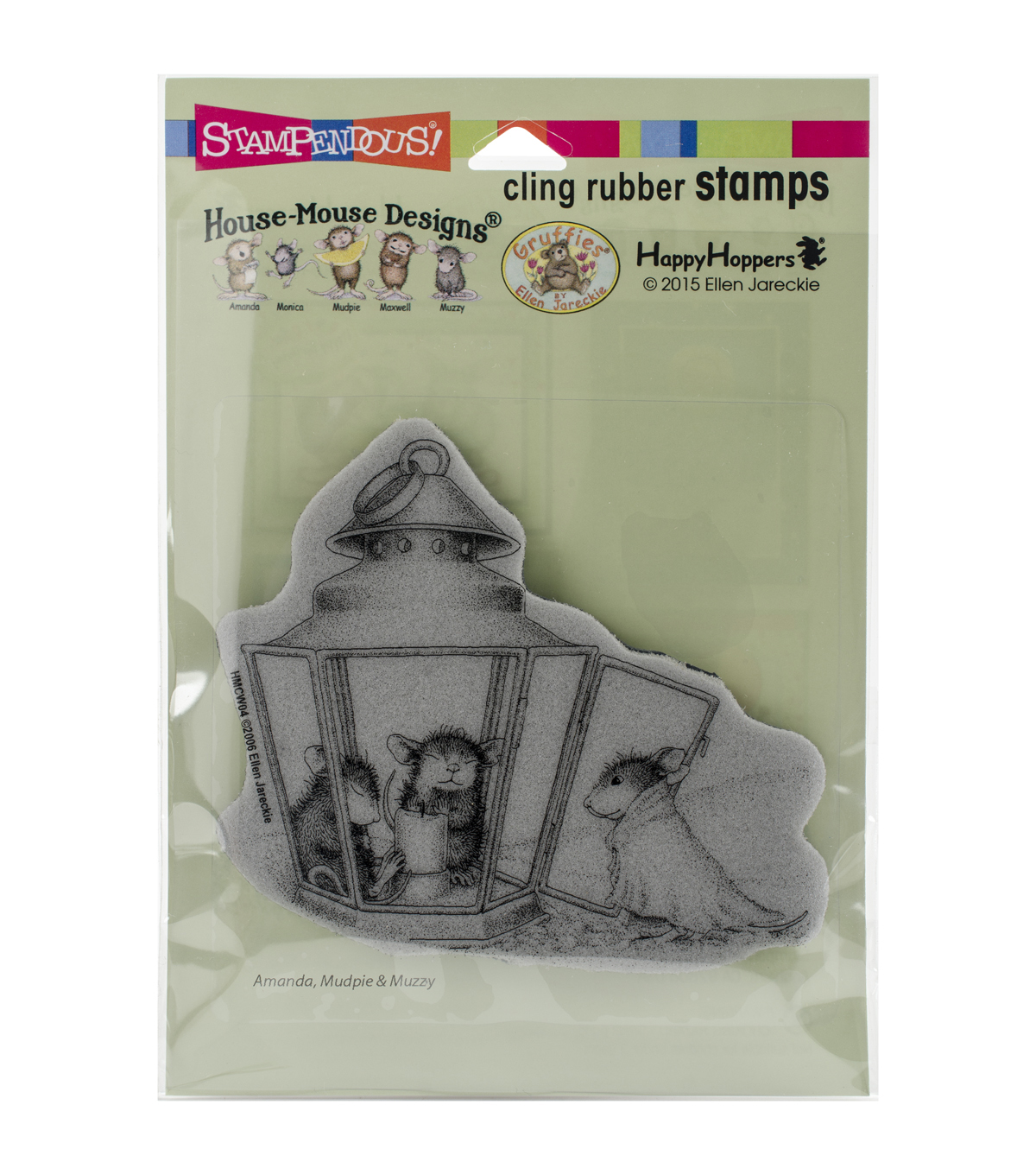 Stampendous® House Mouse Cling Rubber Stamp-Lantern Warmth