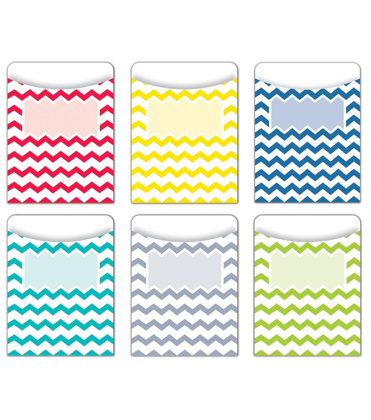 Chevron Solids Jumbo Library Pockets