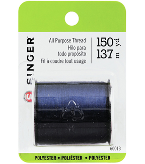 Singer Dual Duty Cotton Covered Polyester Thread 200 Yards-Navy