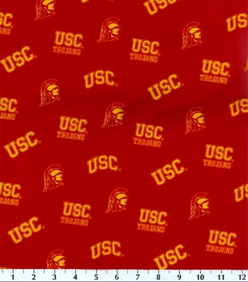 University of Southern California Trojans Cotton Fabric 43\u0027\u0027-Red