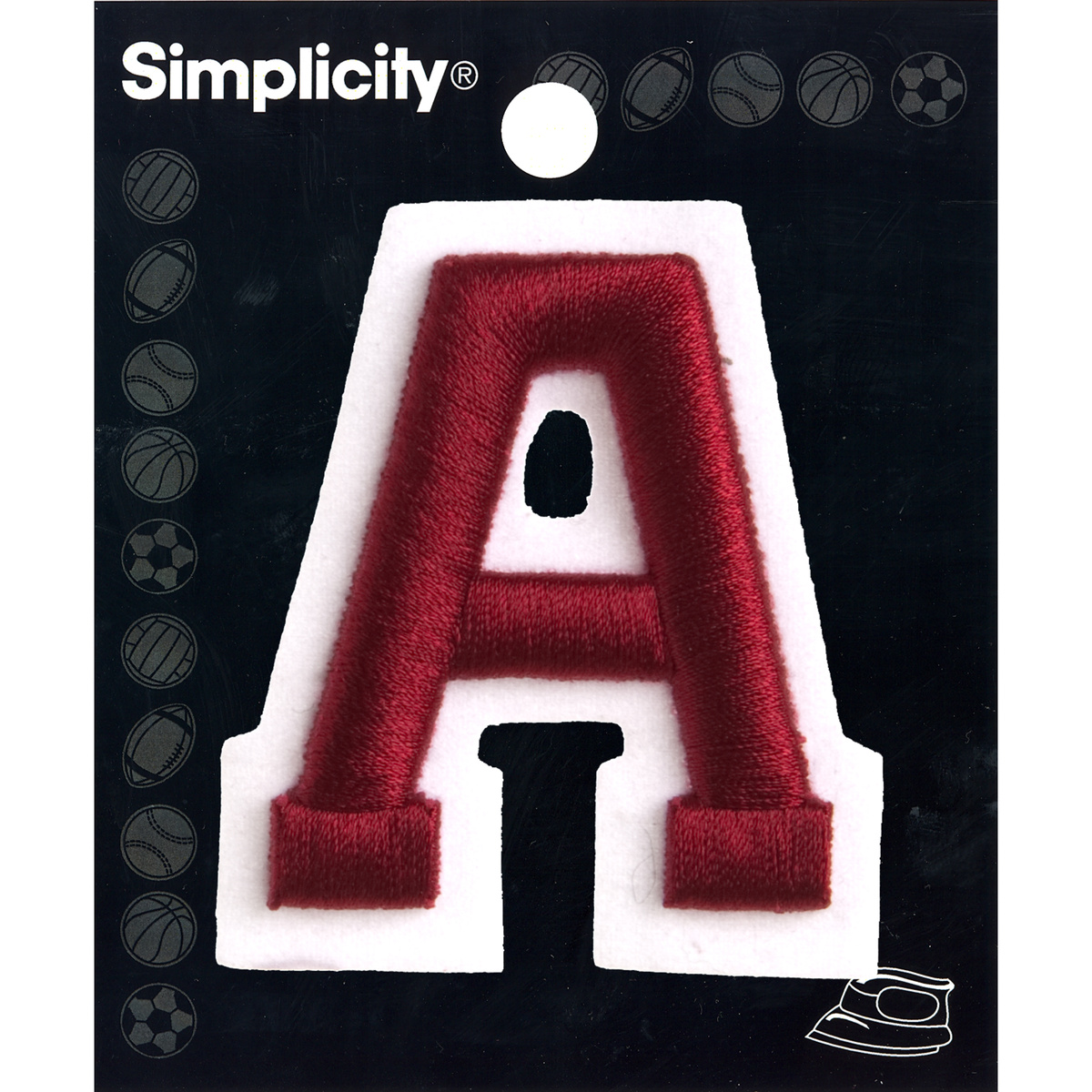 2\u0022 Raised Embroidery Letter Iron On, Red