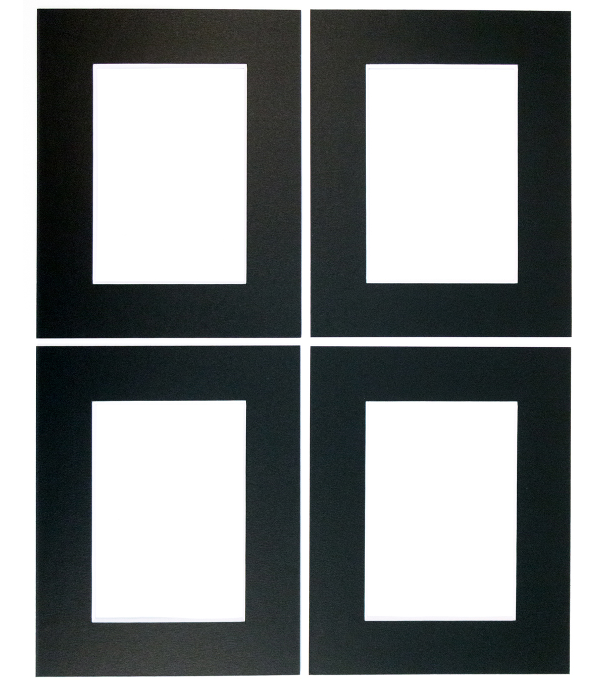 Framing Mats 4pk 8X10-Black