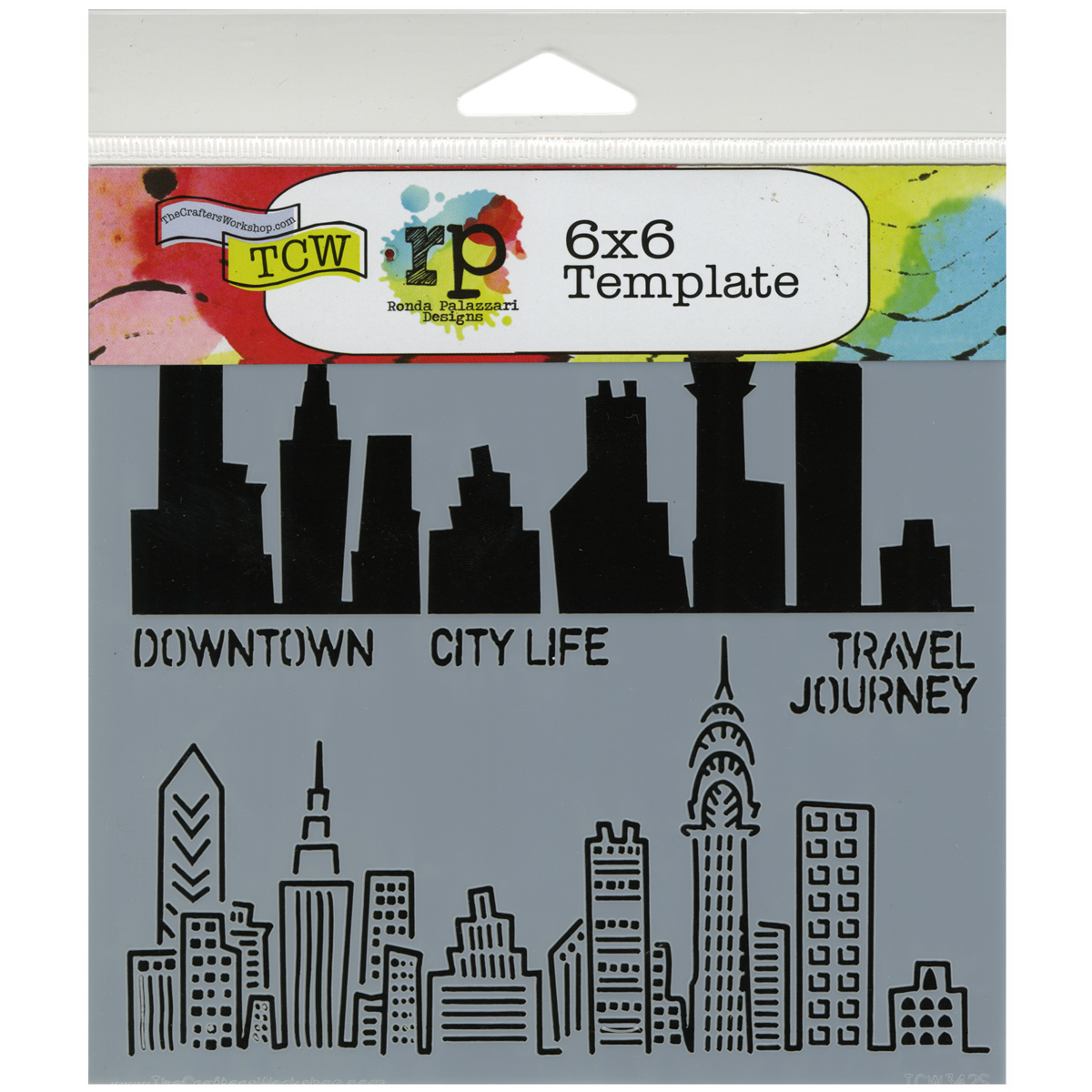"Crafter's Workshop Templates Urban Landscape 6"" x 6"""
