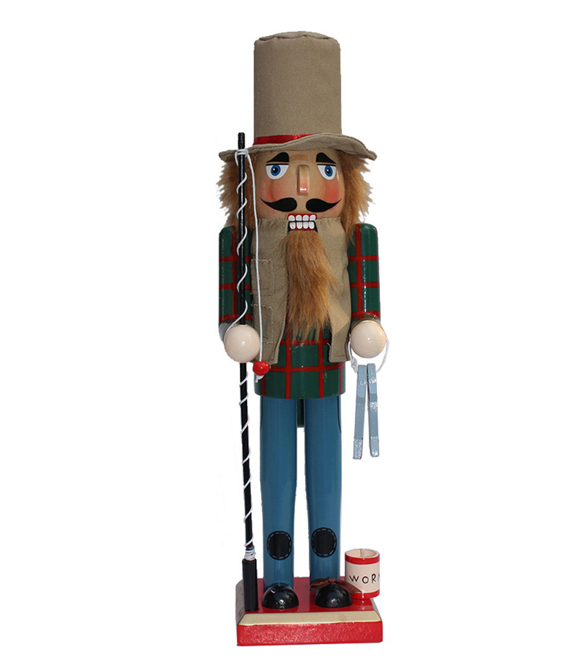 Maker\u0027s Holiday 15\u0027\u0027 Wooden Fishing Nutcracker