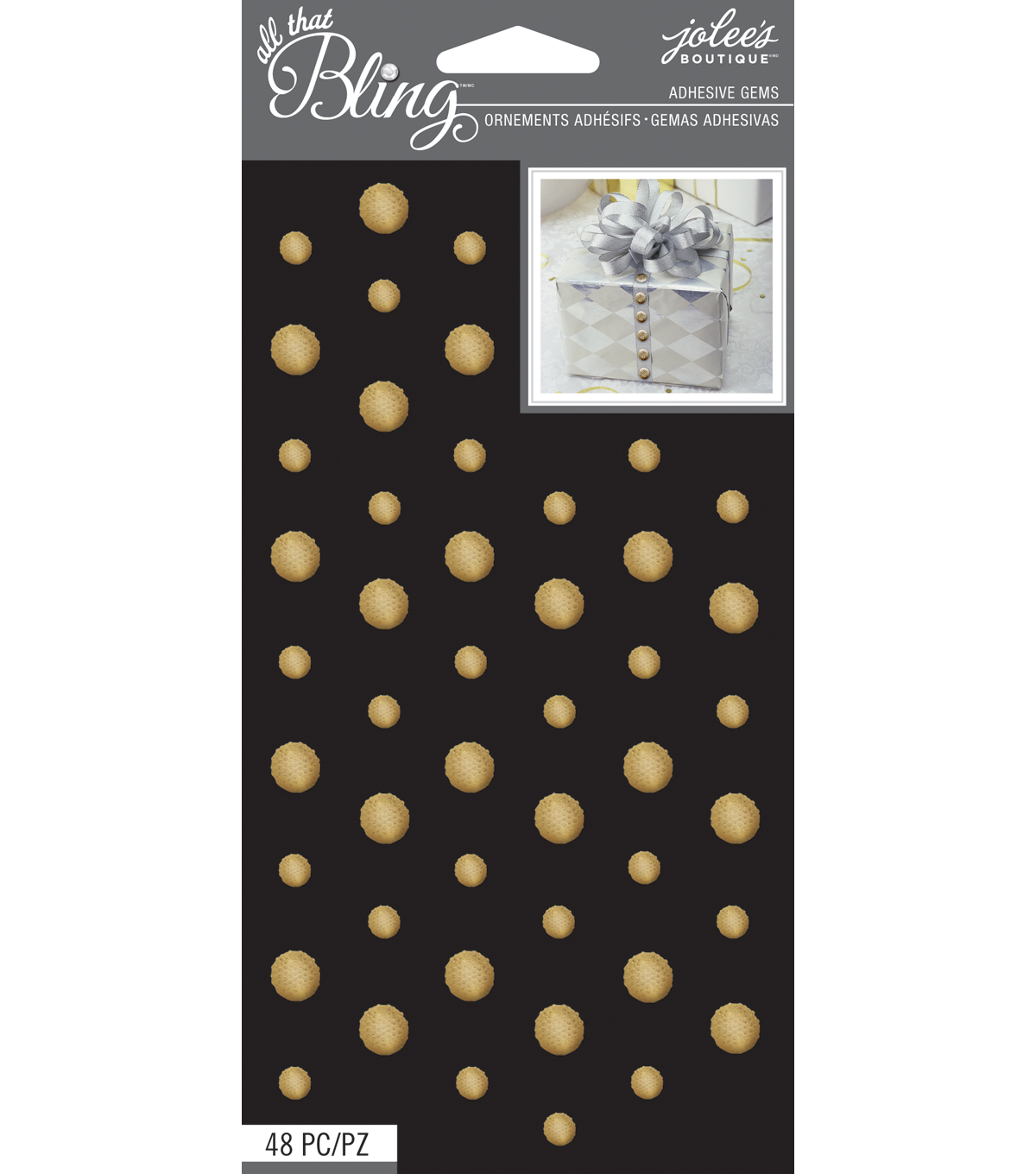 All That Bling - Jolee\u0027s Boutique - Gold Circle Wedding Bling Gems