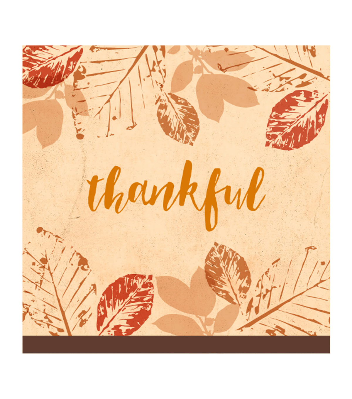 Art of Autumn 20 Count Beverage Paper Napkins-Thankful