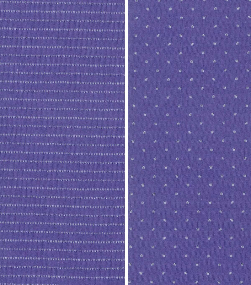 Reversible Knit Fabric-Purple/Ivory/Silver