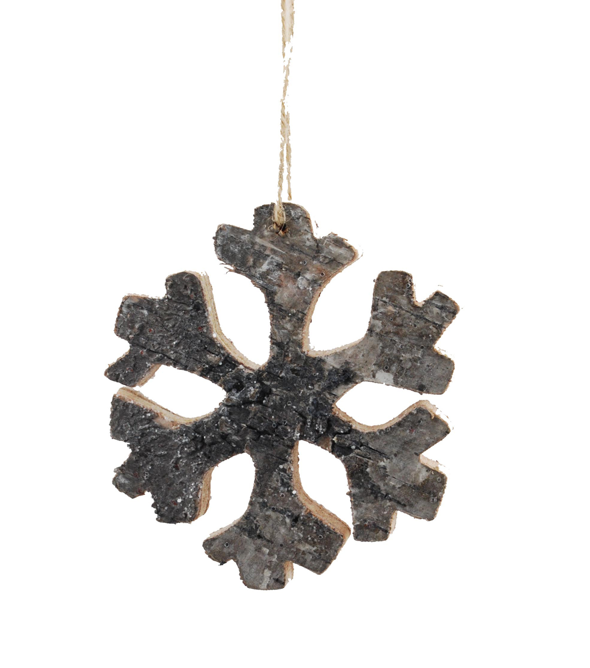 Maker\u0027s Holiday Christmas Woodland Lodge Birch Snowflake Ornament