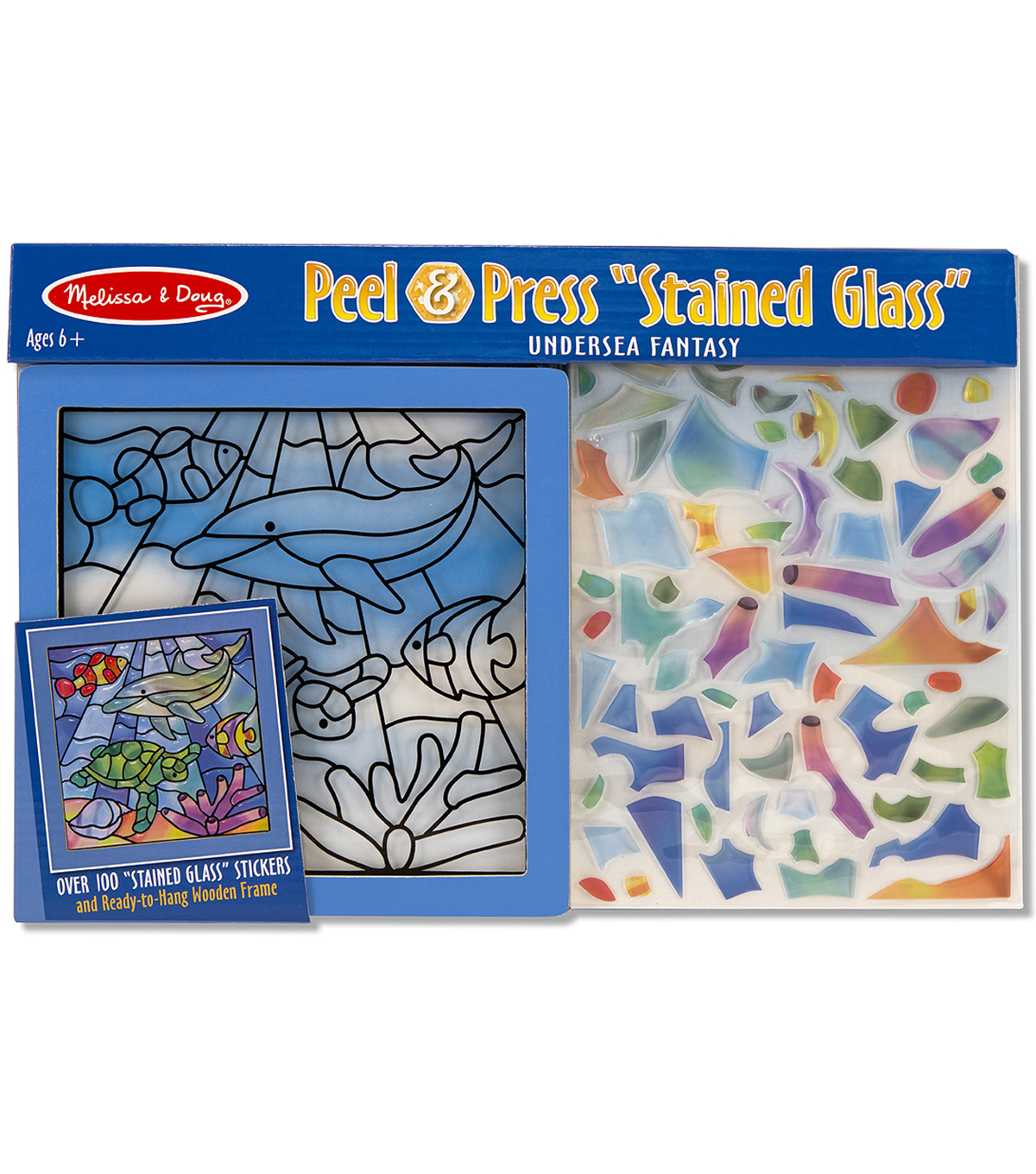Melissa & Doug Peel & Press Stained Glass-Undersea Fantasy
