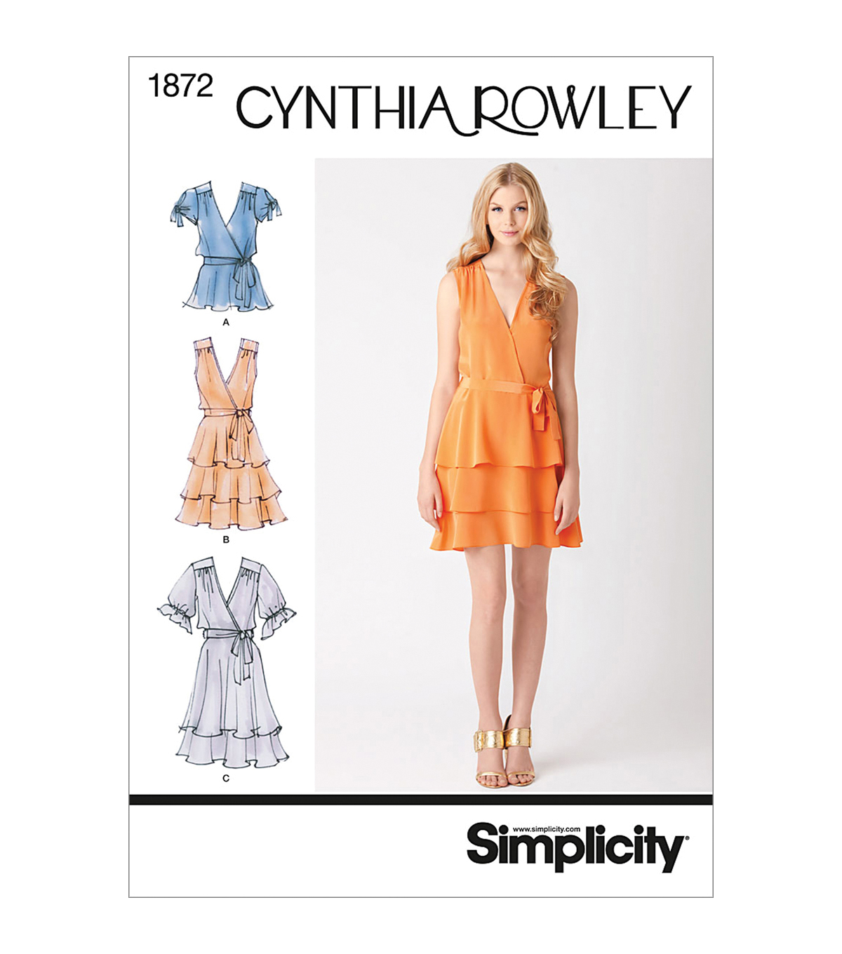 Simplicity Patterns Us1872R5-Simplicity Misses Dresses-14-16-18-20-22