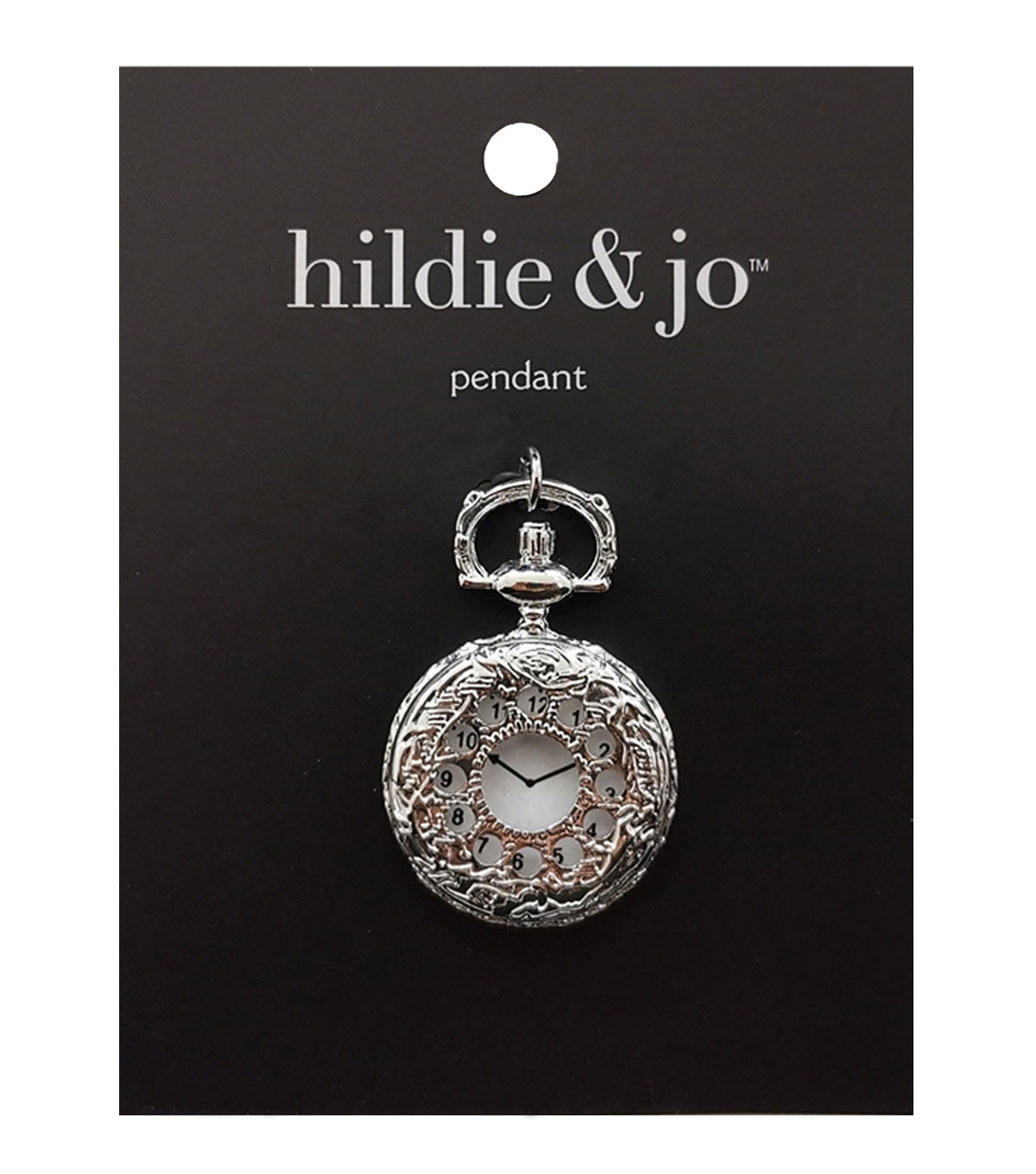 hildie & jo™ Antiquist Pocket Watch Antique Silver Pendant