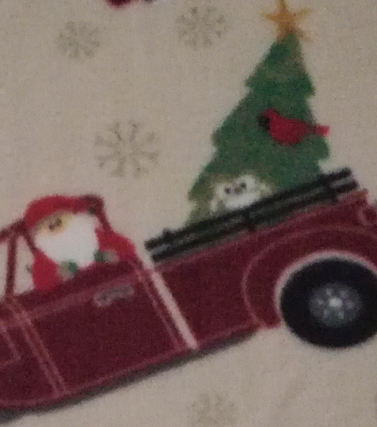 Anti-Pill Fleece Fabric 59\u0022-Santa Truck