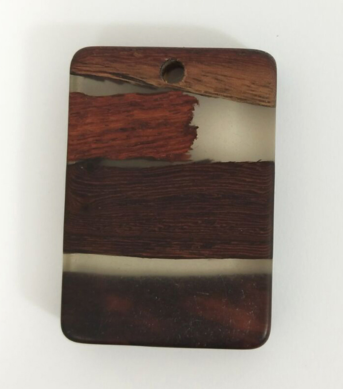 hildie & jo™ Wood & Resin Rectangle Pendant