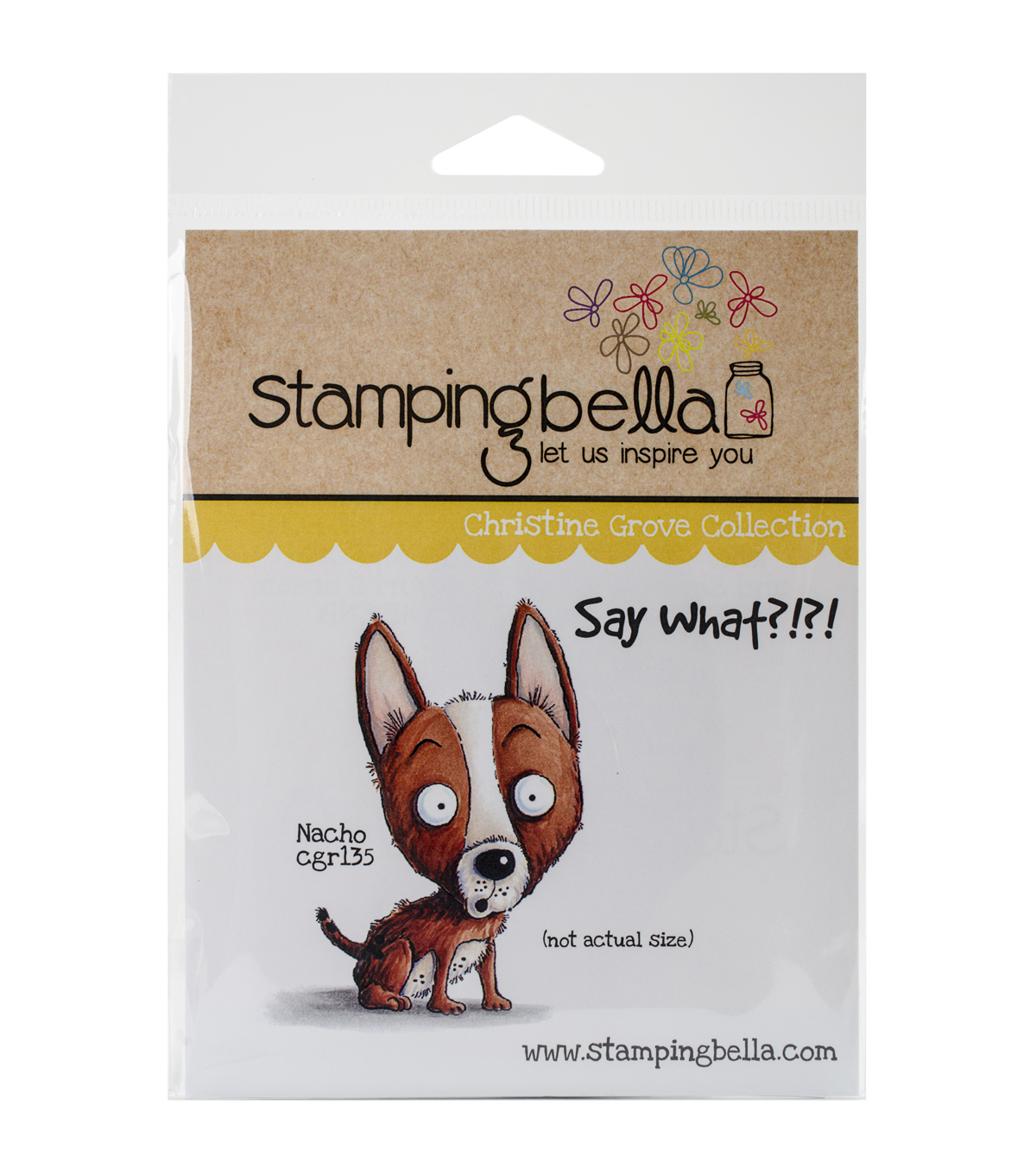 Stamping Bella Cling Rubber Stamp-Nacho