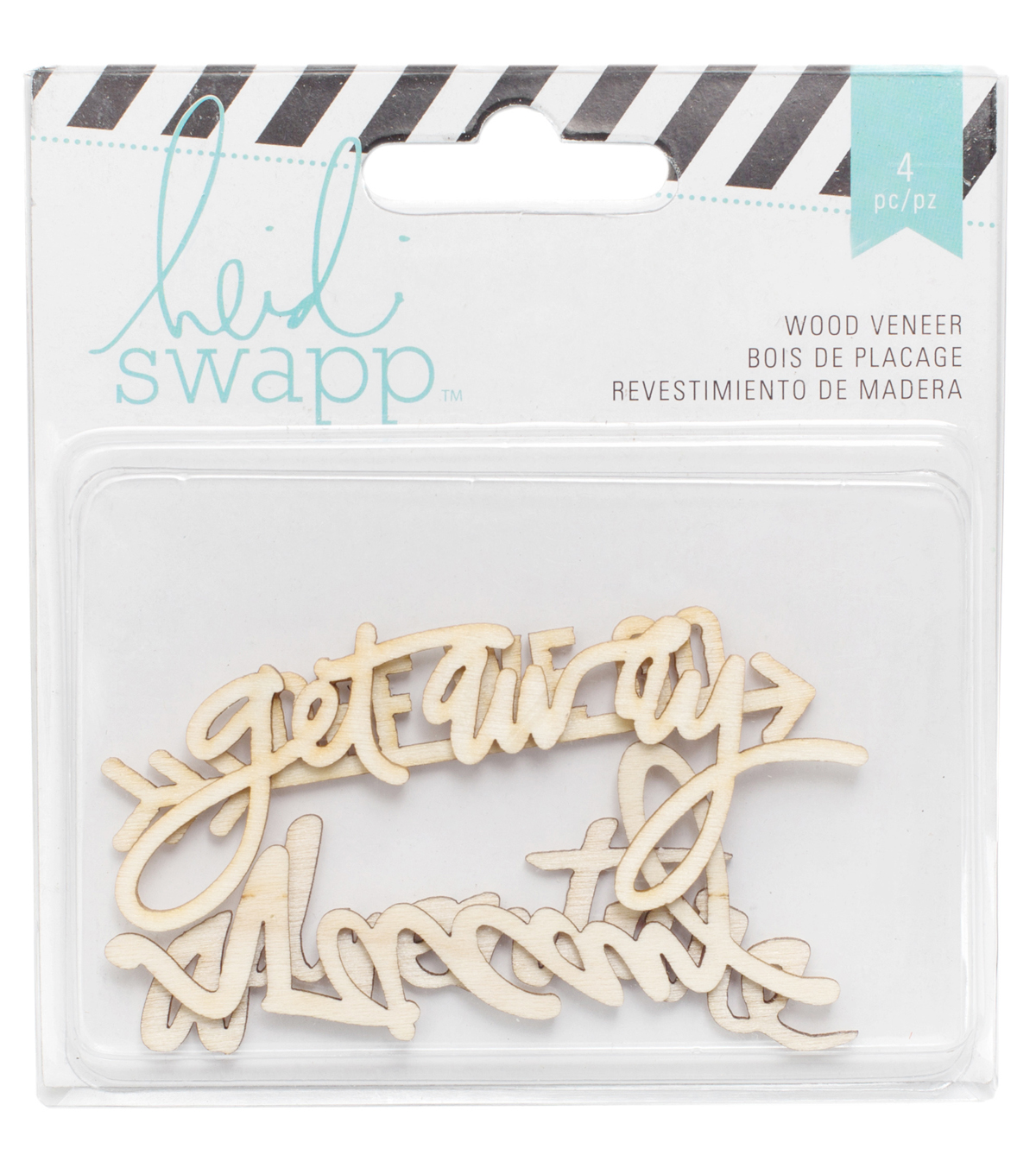 Wanderlust Wood Veneer Words 4/Pkg-Adventure