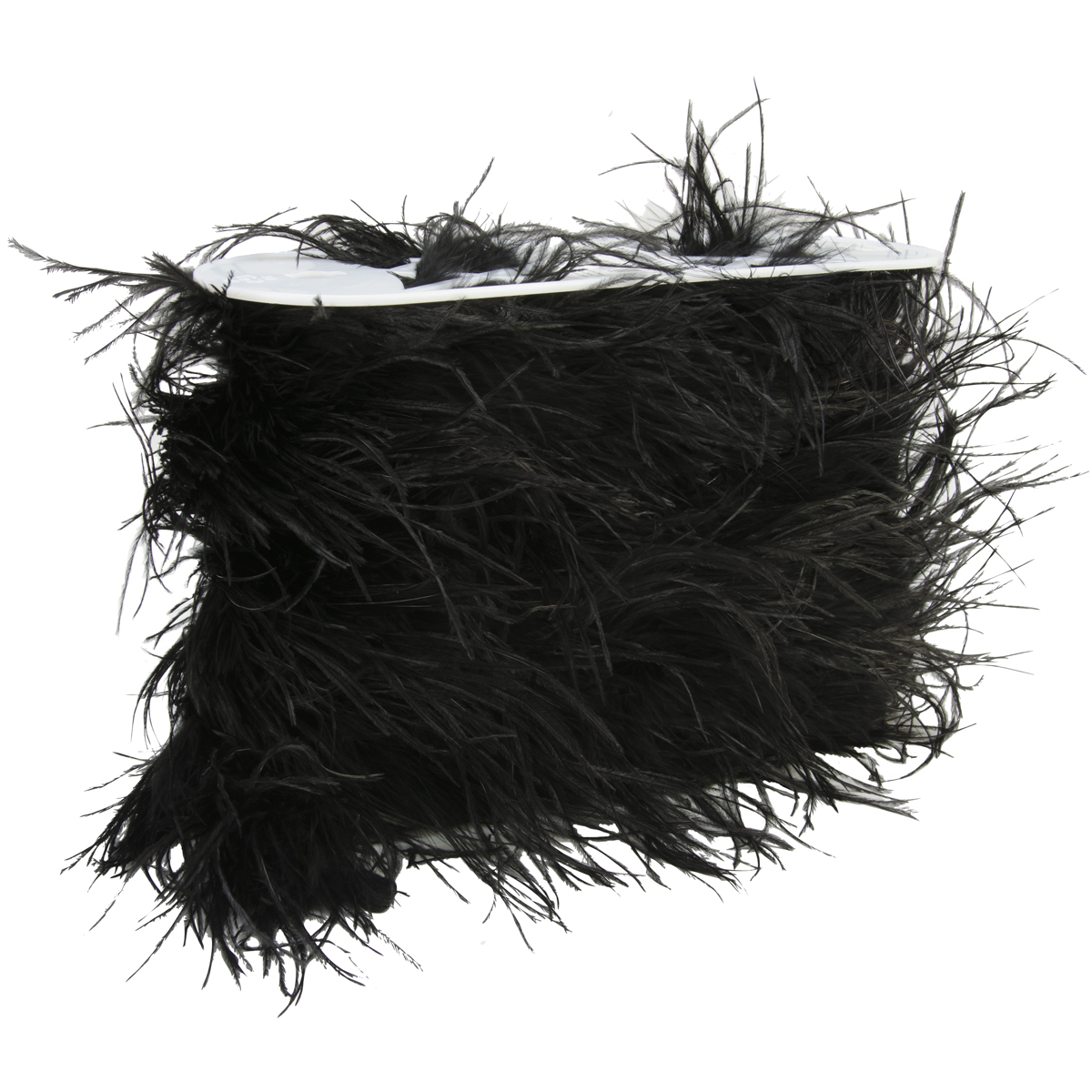 6In Black Ostrich Feather Boa