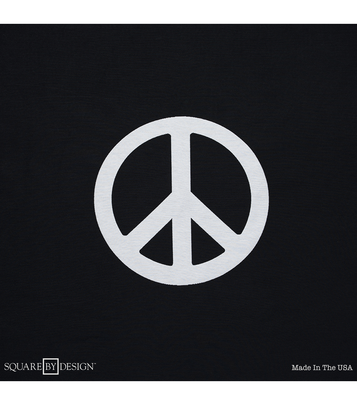 Square By Design-Peace Sign 25\u0022 Woven Square