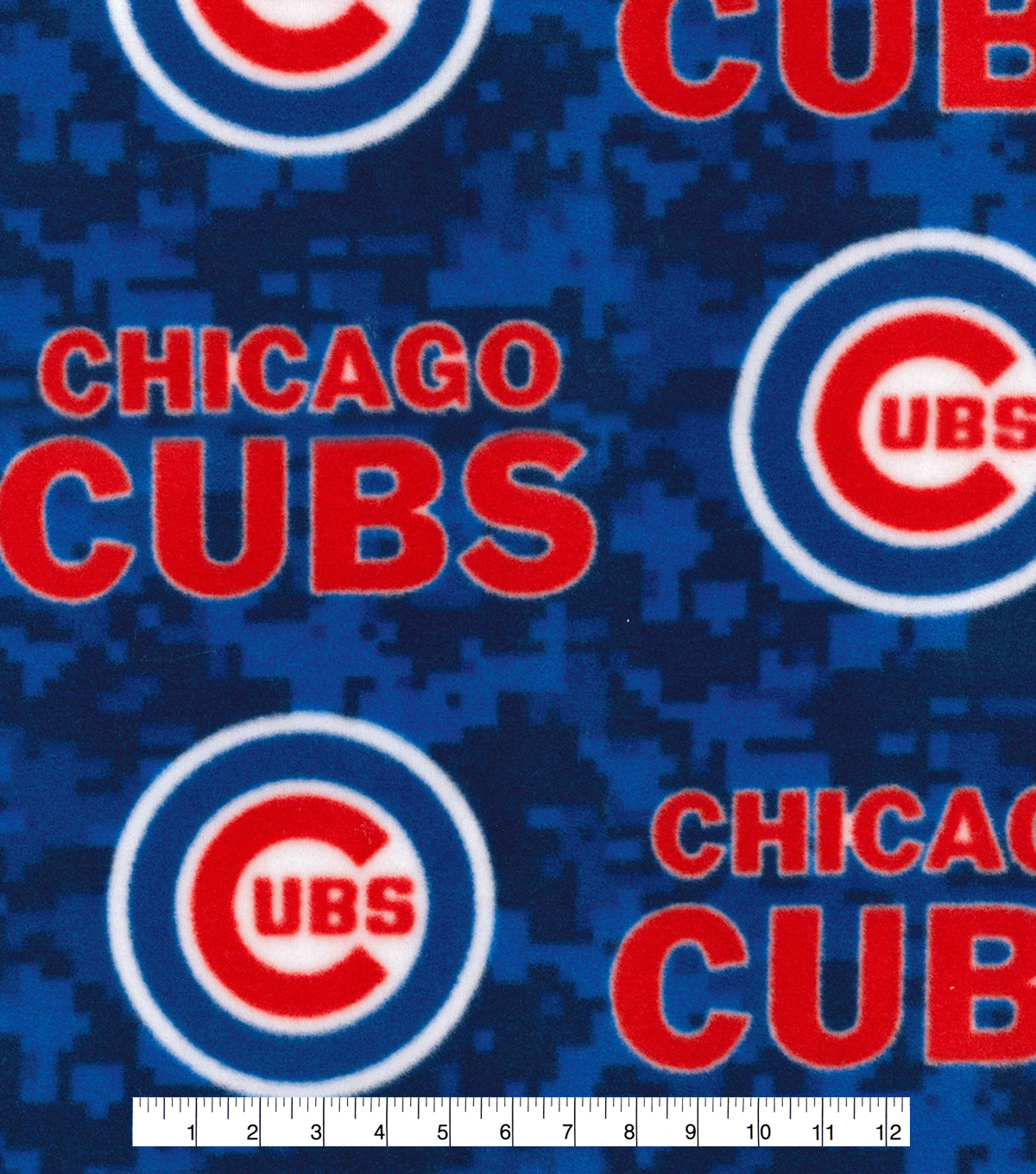 Chicago Cubs Fleece Fabric 58\u0027\u0027-Digital Camo