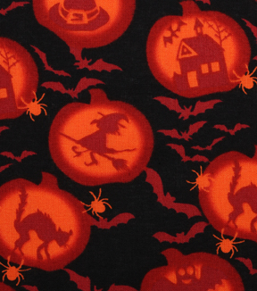 "Halloween Cotton Fabric 43""-Witching Hour"