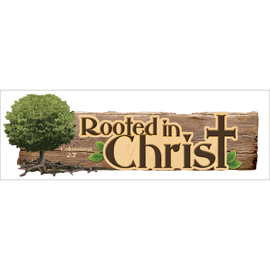3D Title Sticker-Rooted In Christ