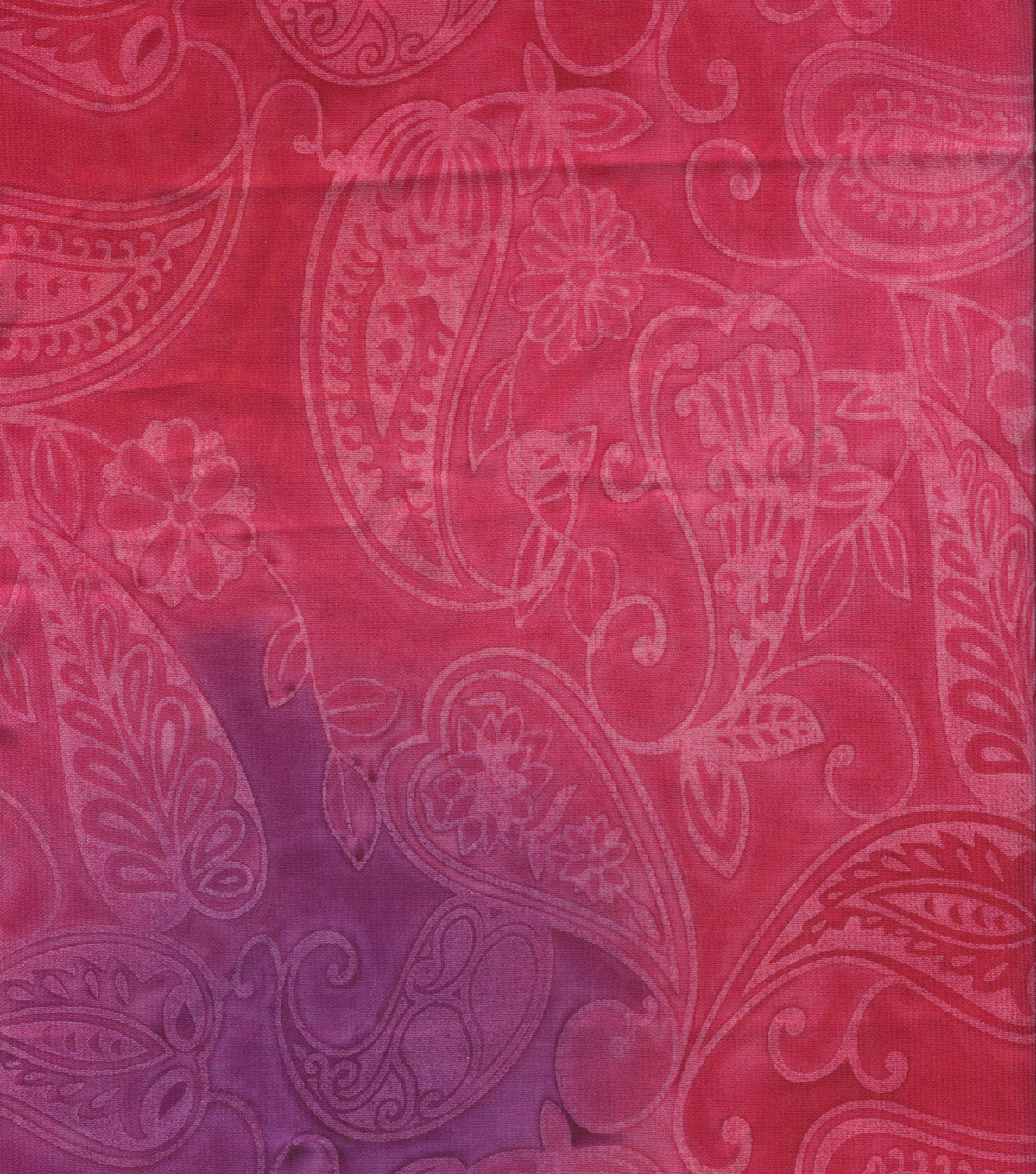 Sari Fabric-Floral Paisley Pink Orange