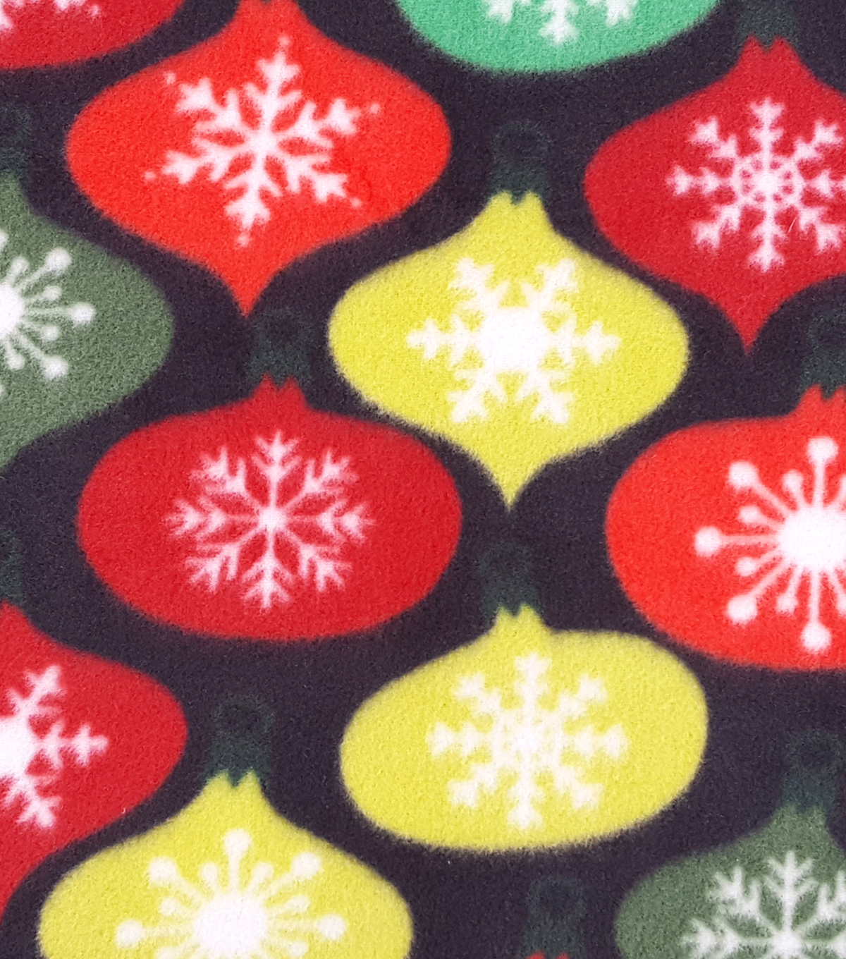 "Maker's Holiday Fleece Fabric 59""-Ornaments"