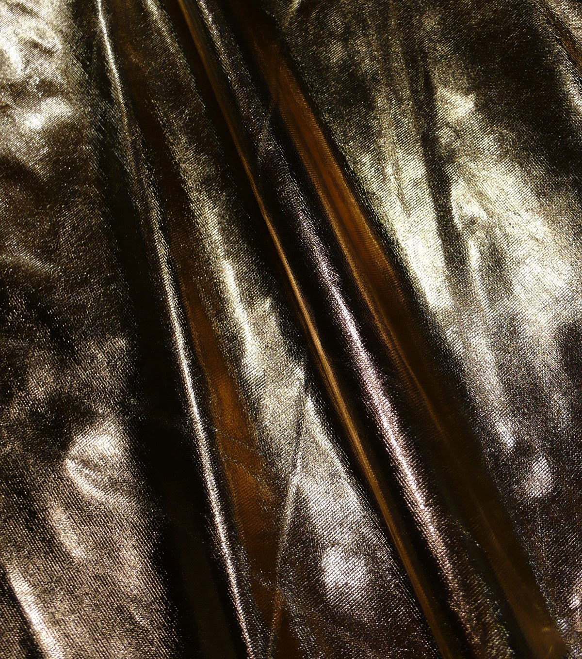 Metallics Lamé Fabric 58\u0022-Gold and White