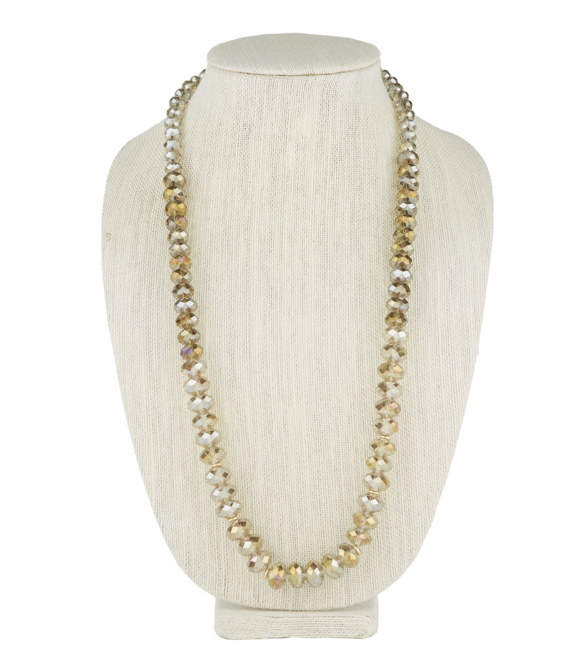 Long Solid Necklace Champagne
