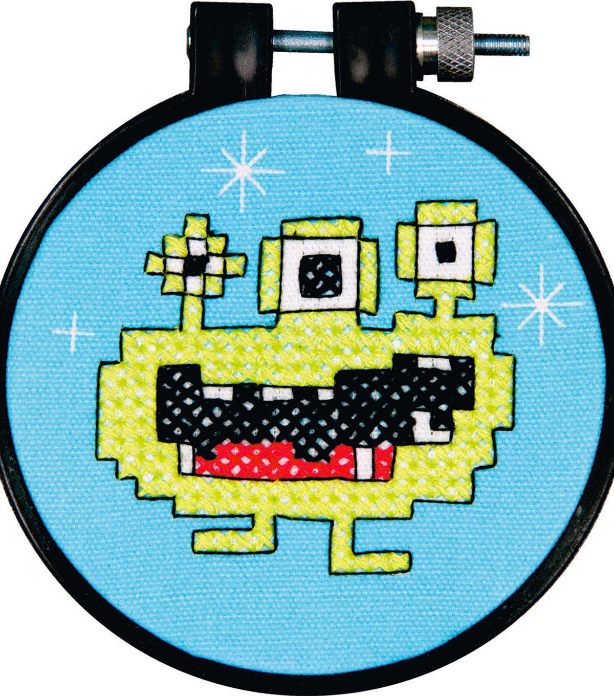Dimensions Learn-A-Craft Stamped Cross Stitch Kit Monster