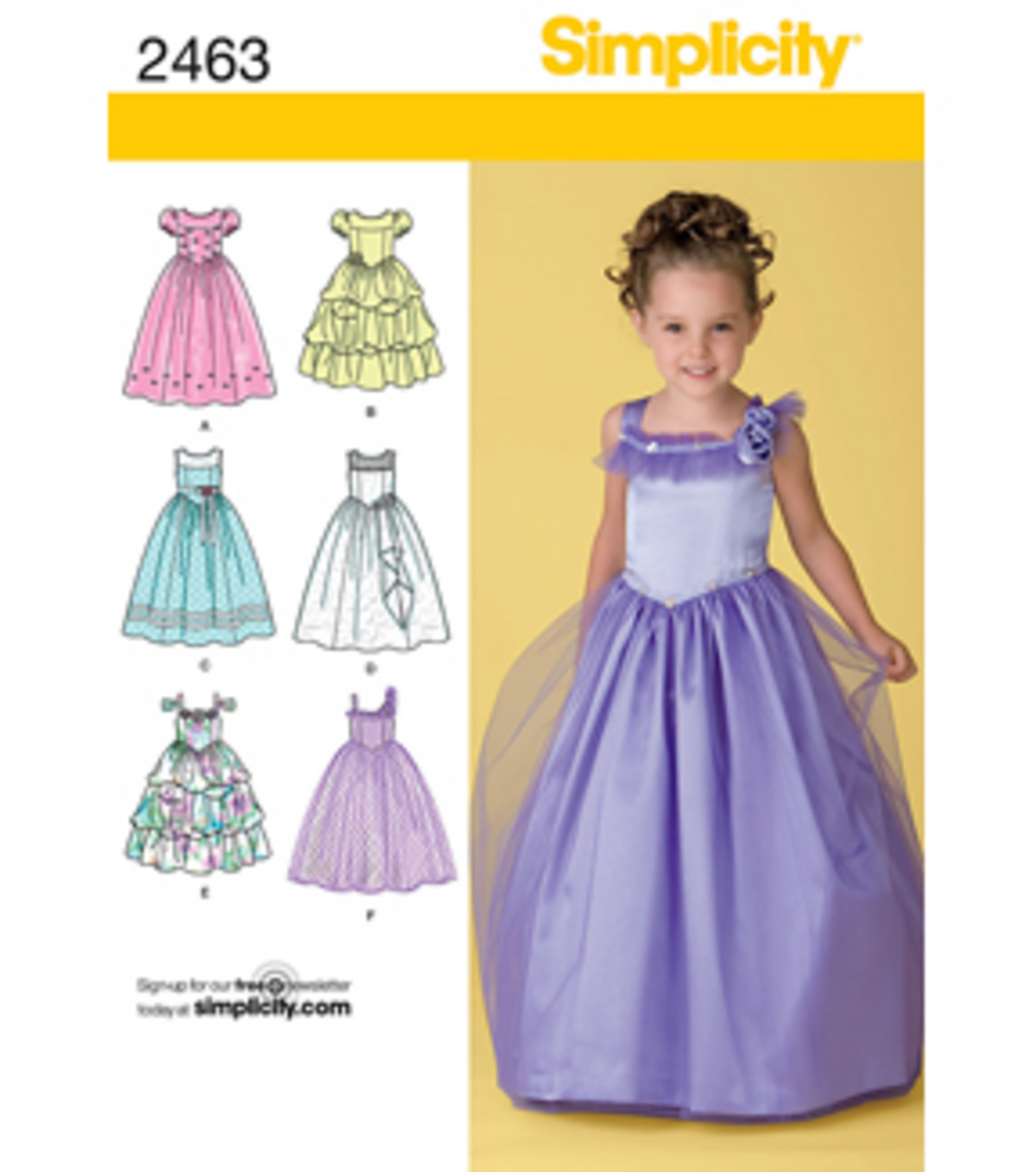 Simplicity Pattern 2463BB 5-6-7-8 -Simplicity Child