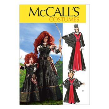 McCall's Pattern M6817-Long Dress with Lacing and Puff Sleeves