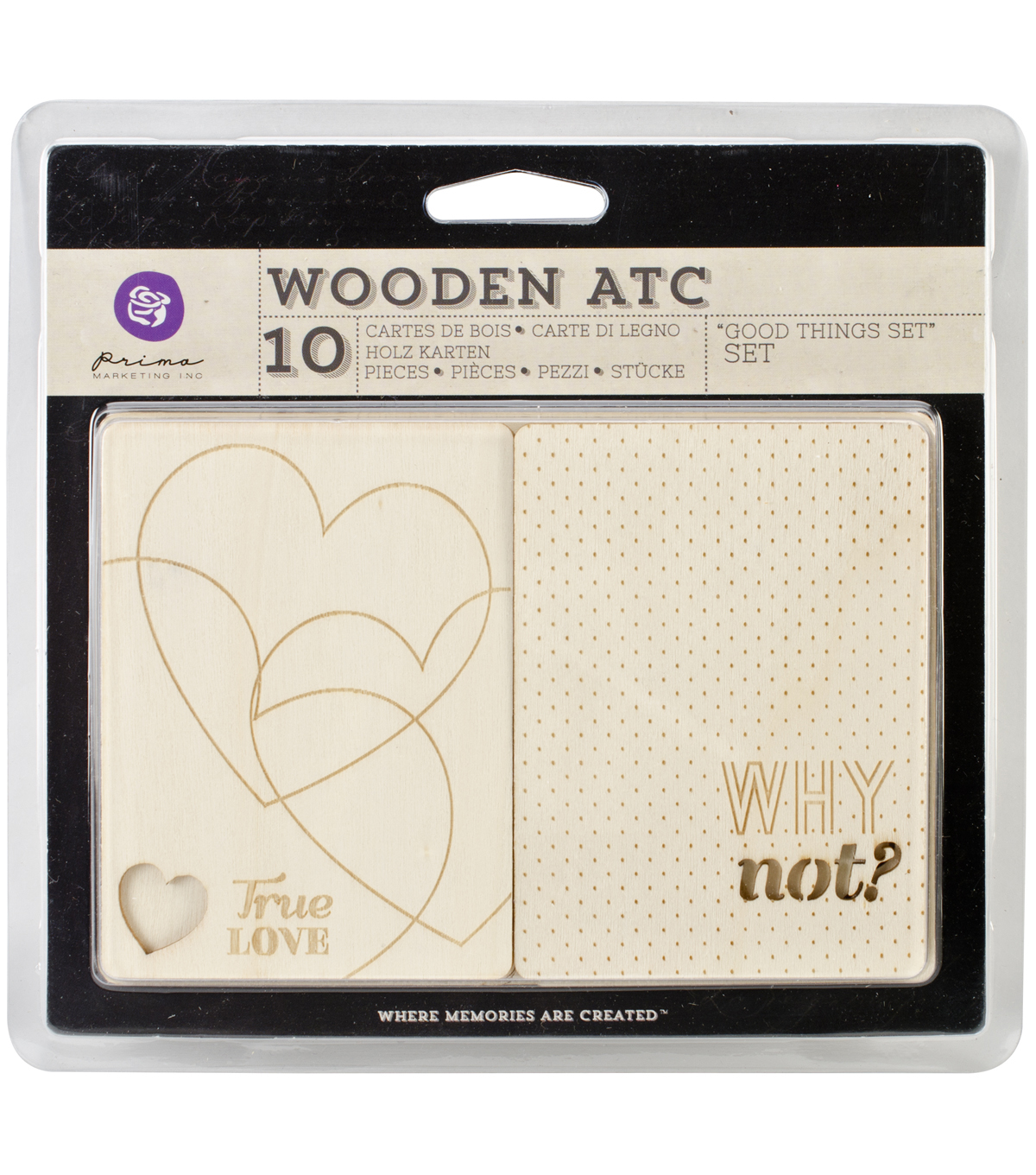 Wooden ATC Cards 10/Pkg-Good Things