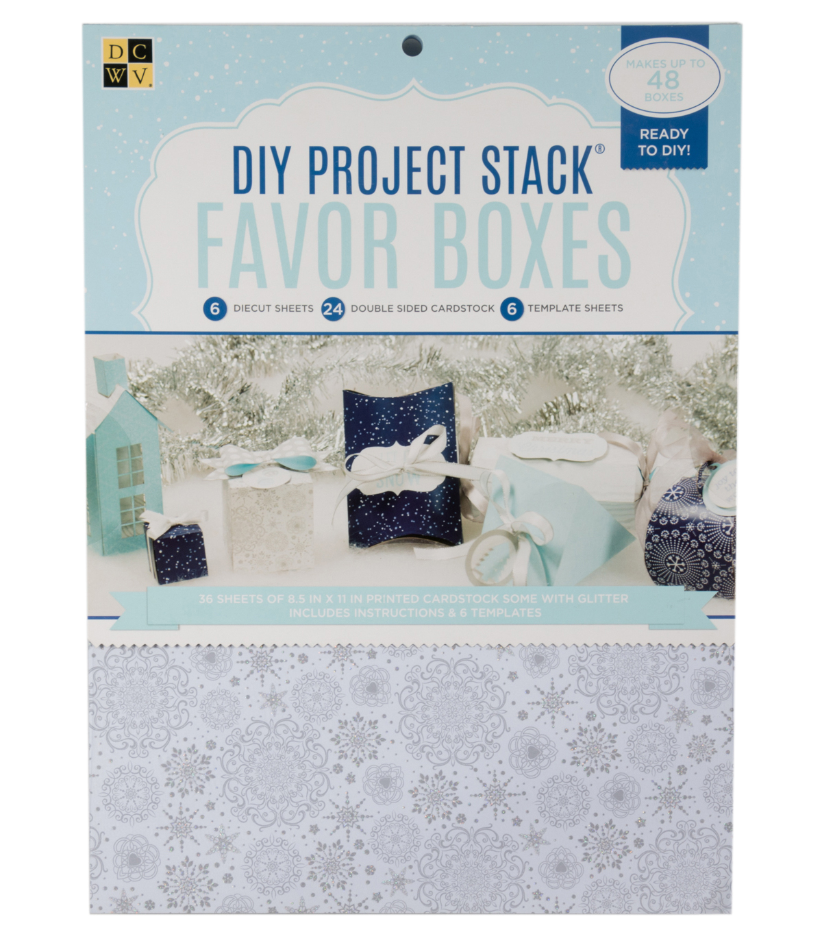 "DCWV 8-1/2""x11"" Project Stack: Winter Favor Boxes"