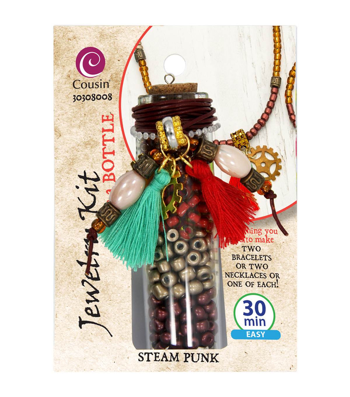 Jewelry Kit In A Bottle-Steam Punk