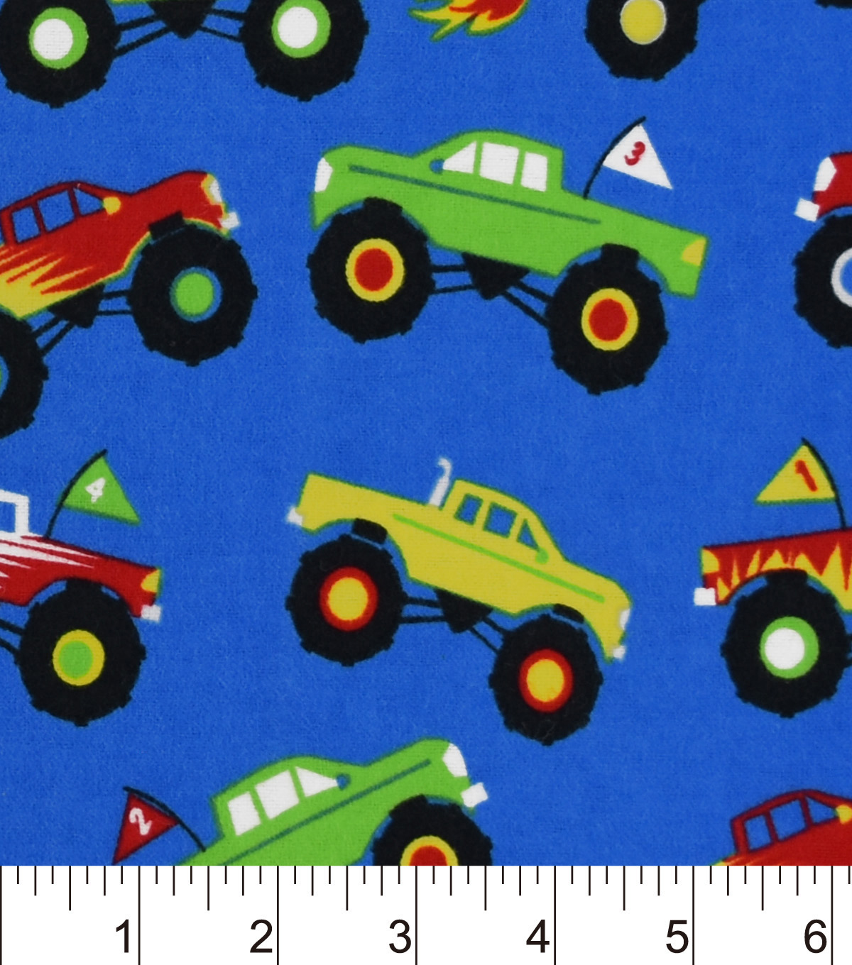 Snuggle Flannel Fabric 42\u0022-Monster Trucks