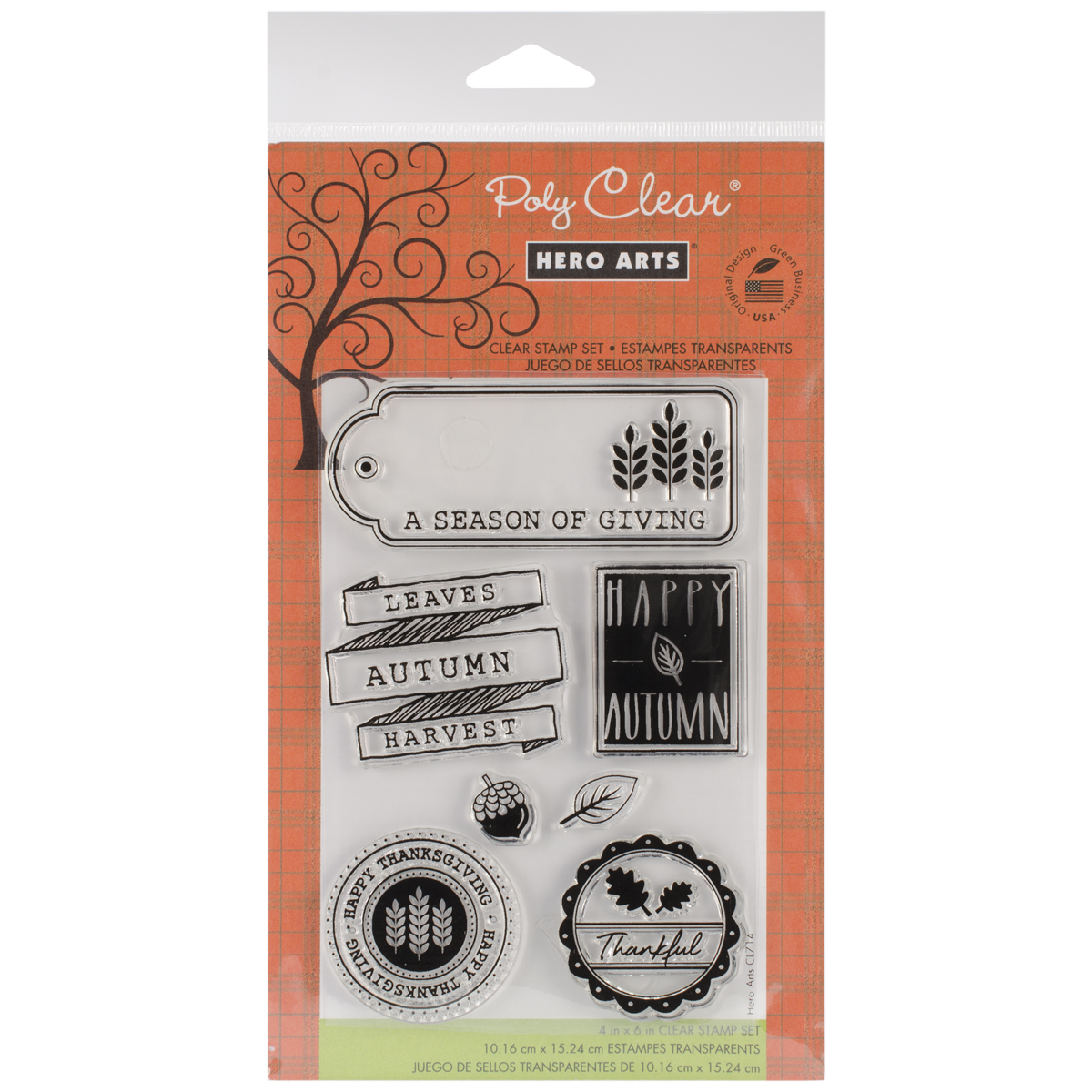Hero Arts Clear Stamps Autumn Leaves