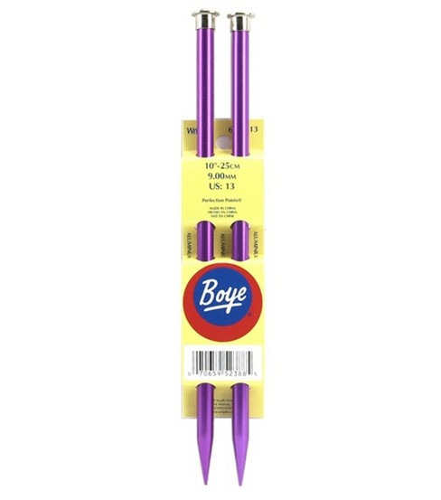 Boye Single Point Aluminum Knitting Needles 10\u0022-Size 13