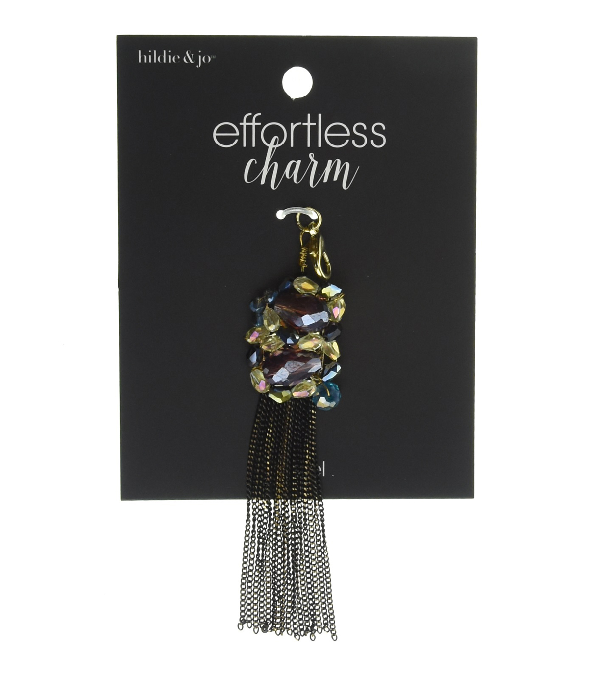 hildie & jo™ Effortless Charm Metal Tassel-Iridescent Stones