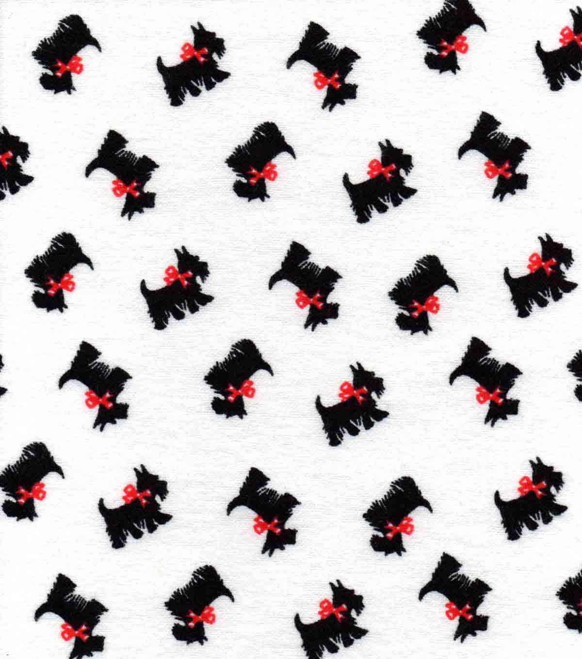 "Snuggle Flannel Fabric 42""-Scotties Tossed On White"