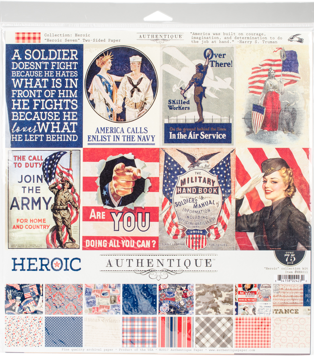"Authentique Collection Kit 12""X12""-Heroic"