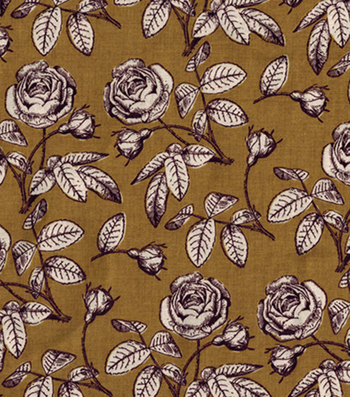 Keepsake Calico™ Cotton Fabric-Floral Gold
