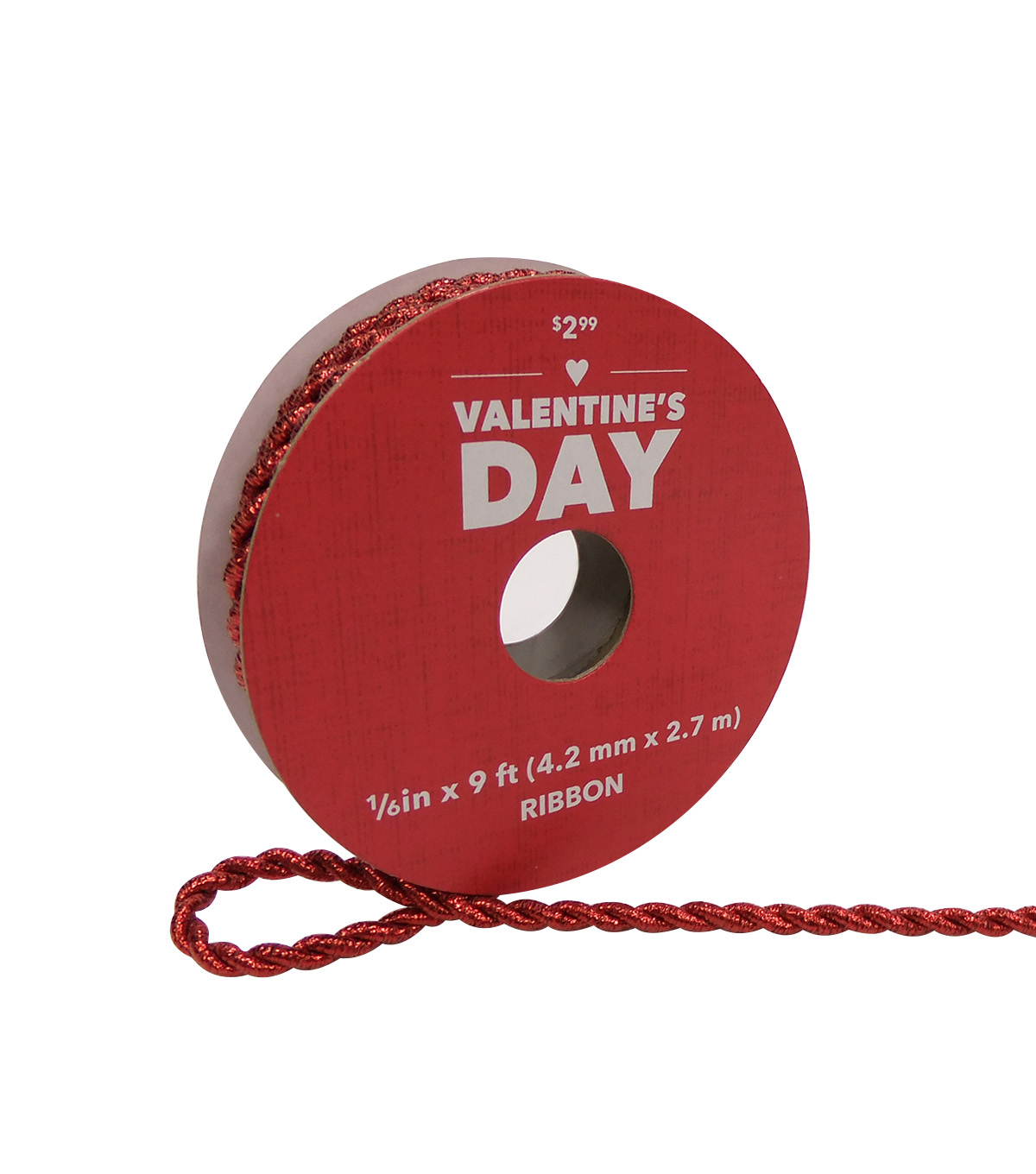 valentineu0027s day metallic cord ribbon
