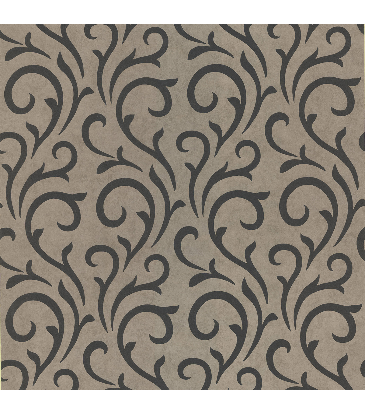Ophelia Charcoal Scroll Wallpaper